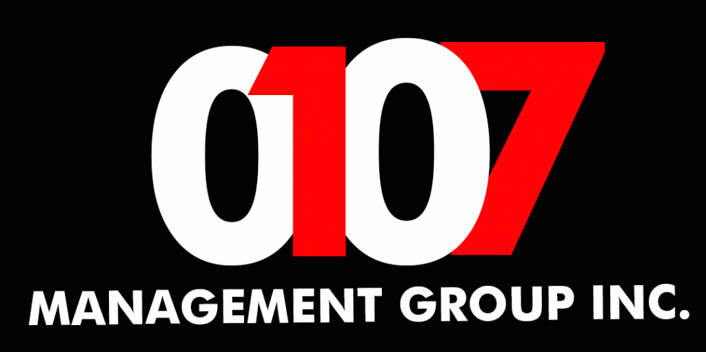 0107 logo, the social media marketing group and management of Exile Lights and Sounds