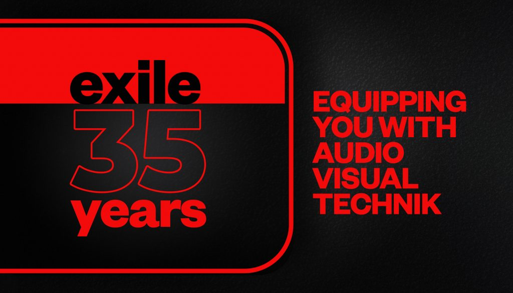 Exile Lights and Sounds equipping you with Audio Visual Technik for any kind of event for 35 years